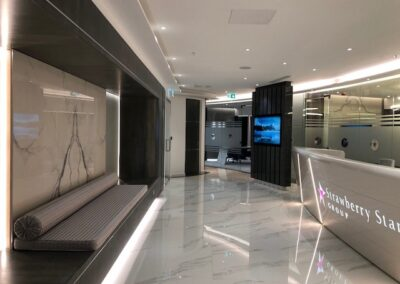 water-jet-cut-porcelain-tiles-circular-stone-work-commercial-project