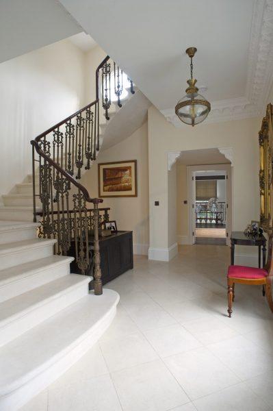 cantilever-staircase-limestone-hallway-london