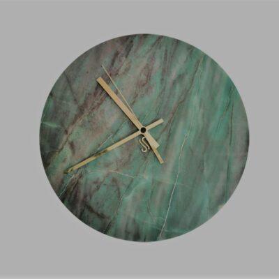 marble-wall-clock-emerald-quartzite