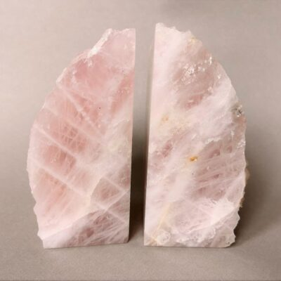 rose-quartz-bookends